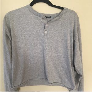 Brandy Melville Gray Shirt